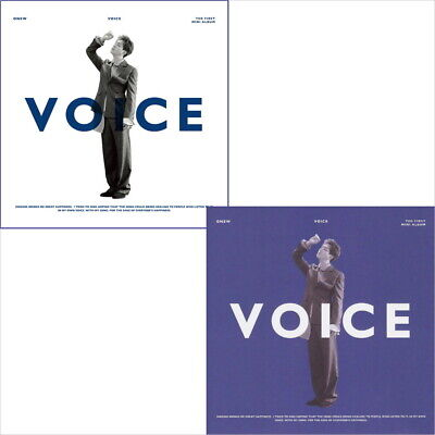 Shinee Onew-[Voice]1st Solo Mini Random CD+Book+Card+KPOP POSTER+Tracking no