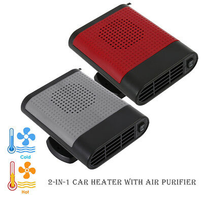 2in1 12V Car Auto Heater Cooler Dryer Demister Defroster Air Purification Warm