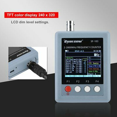 Portable Digital LCD Frequency Counter with CTCSS/DCS Decoder 2MHz-2800MHz EU