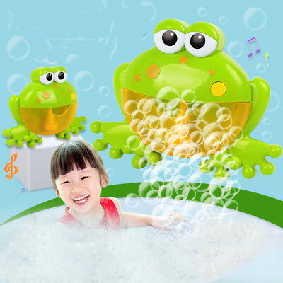 Frog Bubble Crab Automatic Blower Maker Shower Machine Bath Music Toy Kids Baby