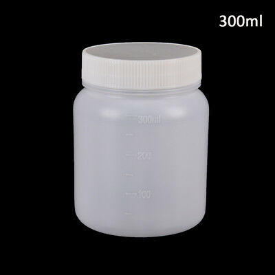 300ml clear plastic cylinder shaped chemical storage reagent sample bottle UQ