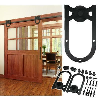 6/6.6FT Sliding Barn Door Hardware Kit Track System Closet Antique Country Style