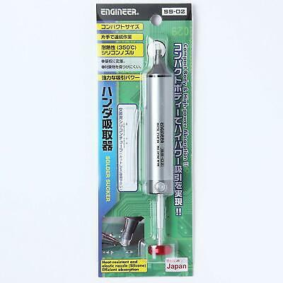 Engineer SS-02 Solder Sucker Suction force up 9cc(9ml) From JAPAN