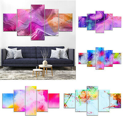 Modern Abstract Canvas Print Painting Framed Home Decor Wall Art uu Poster 5Pcs