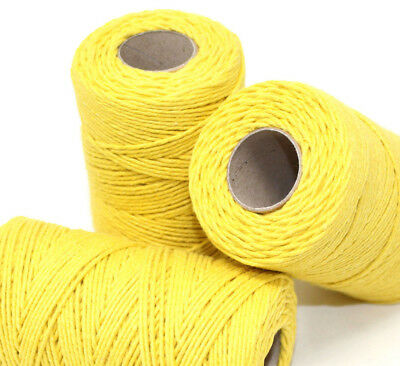 SOLID YELLOW BAKERS TWINE 2mm 2 PLY - EASTER CRAFT TWINE STRING CORD WRAP