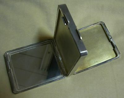 """A Mirror &   2 Compartments In """" C&c"""" Sterling  Outstanding Compact Case"""