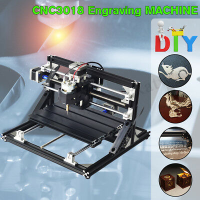 500mw Mini CNC Router 3018 Laser Engraving Machine Engraver Wood Carved Cutter