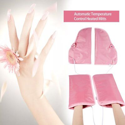 Professional 2pcs Hand Heated Mitts For Paraffin Therapy Manicure Waxing Booties