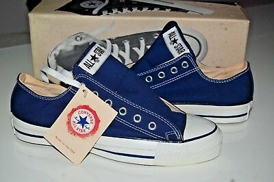 ee89fc07c8 VINTAGE 70S 80S Converse Made In Usa White Striped Chuck Taylor ...