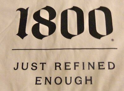 """Jose Cuervo 1800 T shirt """"Just Refined Enough""""....White - Men's Large...NEW"""