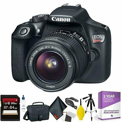 Canon EOS Rebel T6 DSLR Camera with 18-55mm Lens + 64GB Memory Card Bundle017