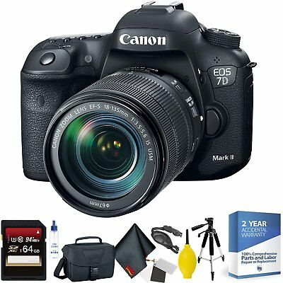 Canon EOS 7D Mark II DSLR Camera with 18-135mm f/3.5-5.6 is USM Lens Bundle060