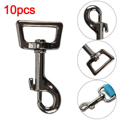 Pack of 10 25mm 1 inch Dog Lead Clips Heavy Duty Square Eye Snap Trigger Hooks