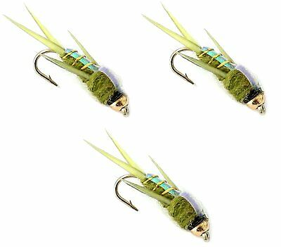 Trout Fishing Flies UK # 10 12 14 Barbed BARBLESS Hook For Fly Fishing 3xBlack//R
