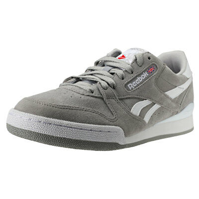 8f8d023c845 Reebok Phase 1 Pro Mu Mens Grey White Suede   Synthetic Trainers - 11 UK