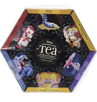 Alice In Wonderland 6 Pack Flavored Tea 48 Bags Mad Tea Party Disney Parks NEW
