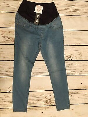 Boohoo Maternity Over The Bump Stretch Skinny Jeans US size 10 UK 14
