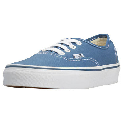 Vans Authentic Unisex Navy Canvas Trainers - 3 UK