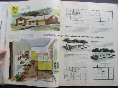 1958 New Homes Home Guide Magazine Mid Century Modern House Plans Architecture