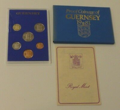 1981 Guernsey Channel Islands Proof 6-Coin Year Set Contains 1p - £1