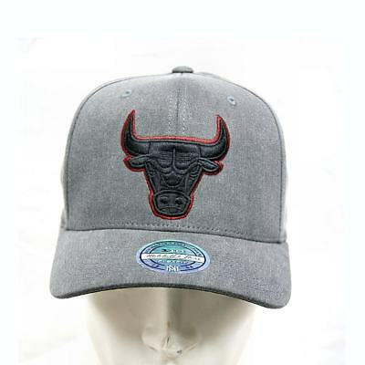 0e8416610d3ae MITCHELL   NESS Curved Snapback 110 Washed Denim Chicago Bulls