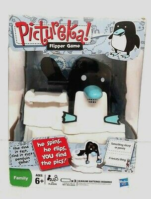 Hasbro Pictureka Penguin Flipper Race Flip Spin Seek Find Pictures Game Toy