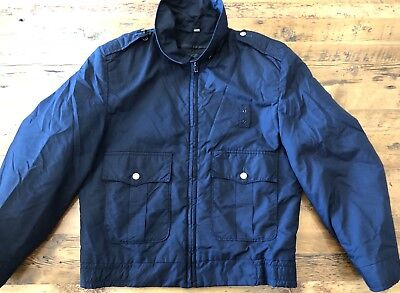 Vintage Horace Small Apparel Full Zip Coat Jacket Men's Size 36R Navy Blue