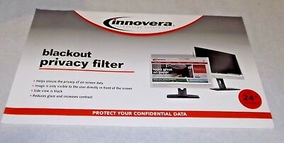 "Innovera BLF24W  Blackout Privacy Filter for 24"" Widescreen Lcd, 16:10 Aspect"