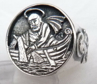 Catholic Christianity Bischof    RING Fisherman 925 SILVER