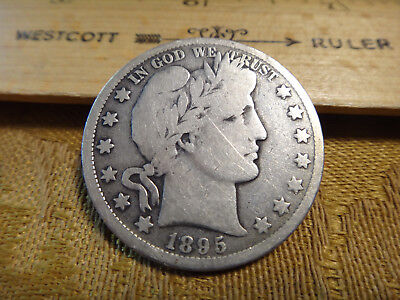 1895-O United States Barber Silver Half Dollar 50c - Free S&H USA