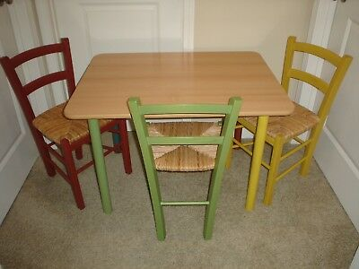 VINTAGE Pottery Barn Kids 2001 Formica Table & Chair Set Made In Italy Excellent