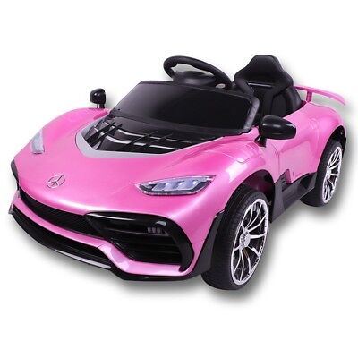 Kids Electric 12V Mercedes Sports Car Ride on for Girls with Light,Music, Extras