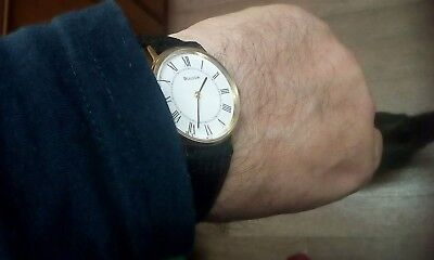 Bulova Vintage Watch White Dial Roman Numerals Serviced And New Battery Imma.con