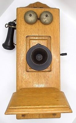 Antique Stromberg Carlson Chicago Kellogg Picture Frame Cathedral Wall Telephone