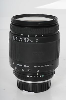 Sigma 28-200mm F3.8-5.6 Zoom Lens Contax Yashica C/Y                        #723