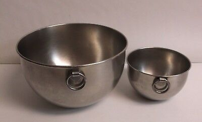 2 Vintage 1801 Revere Ware Stainless Mixing Bowls O Rings