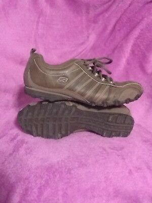 ca0ab1f49c705 SKECHERS 47844 WOMEN Brown Leather Lace Up Sneaker Size 7 -  20.00 ...