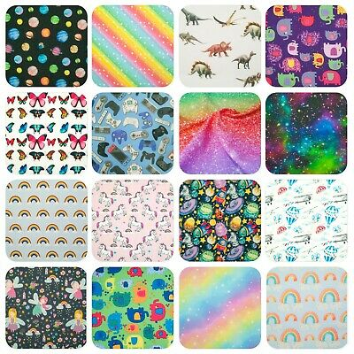 100% Cotton Fabric CHILDREN'S KIDS NURSERY BOY GIRL Wide Material Craft Dress