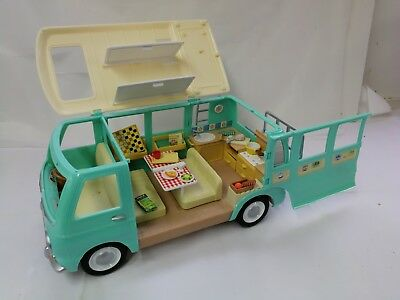 Sylvanian Families - Campervan With Bunks, Ladder And Cycle Rack