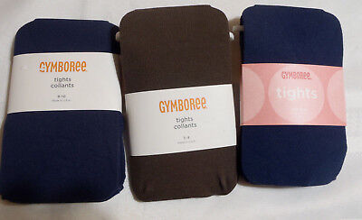 Gymboree Basic Navy or Brown Tights Size 3 4 8 10 Choice NWT School Uniform