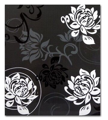"Large Black Slip In Photo Album 500 6"" x 4"" Photos Memo Area Flowers Home Gift"