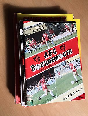 BOURNEMOUTH 1971 - 1988 Job Lot 41 home programmes & 84/85 Yearbook