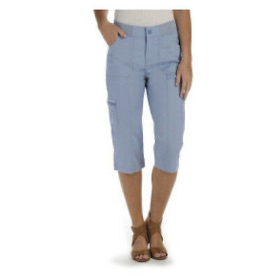 3d42724c4d37 NWT Lee Blue Cargo Skimmer Capri Pants Mid-Rise Relaxed Fit Cotton Stretch 8