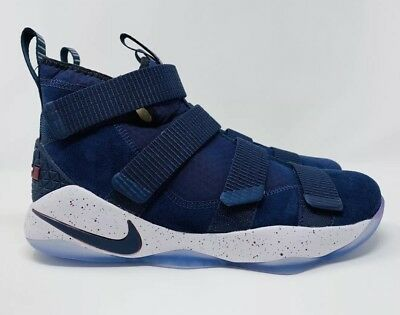 51970ca9704 Nike Lebron Soldier XI White College Navy Blue Shoes 897644-401 Men s Size  10