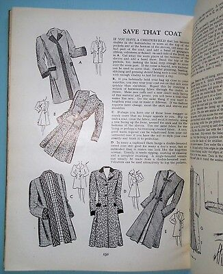 Vintage 1940s sewing book PRACTICAL HOME MENDING MADE EASY WWII make do and mend