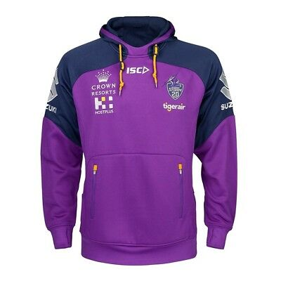 Melbourne Storm NRL 2018 ISC Players Squad Hoody Kids Size 8 ONLY!