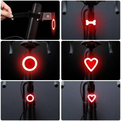 Bike USB Rechargeable Rear Light Tail Lamp LED Bicycle Warning Safety Waterproof