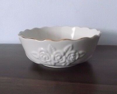 """Small LENOX Rose Pattern 4½"""" Bowl ~ Gold Trim ~ Mint Condition!"""