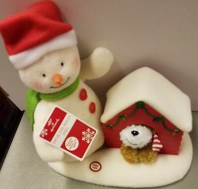 Hallmark 2011 Deck the Halls Duo Plush Snowman W Puppy MINT With Tag NEW