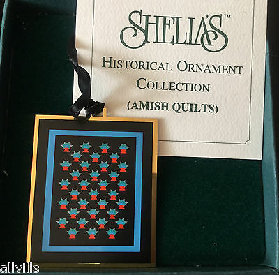 Cactus Basket Amish Quilt Aq003 Shelia's Historical Ornament  Last One